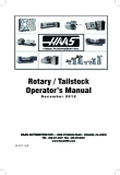 Rotary / Tailstock Operator's Manual