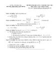 ĐỀ KIỂM TRA HỌC KỲ II – NĂM HỌC 2012 - 2013 Môn: Toán – Lớp 11 (Ban cơ bản)  TRƯỜNG THPT PHAN CHU TRINH