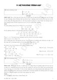 11 Hệ phương trình hay