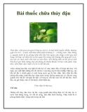 Bài thuốc chữa thủy đậu