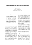 """Báo cáo khoa học: """"Learning Translations of Named-Entity Phrases from Parallel Corpora"""""""