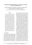 """Báo cáo khoa học: """"Evaluating language understanding accuracy with respect to objective outcomes in a dialogue system"""""""