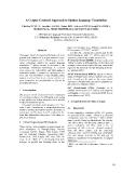 "Báo cáo khoa học: ""A Corpus-Centered Approach to Spoken Language Translation"""