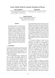 """Báo cáo khoa học: """"Latent Variable Models for Semantic Orientations of Phrases"""""""