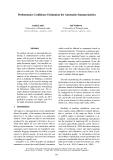 "Báo cáo khoa học: ""Performance Confidence Estimation for Automatic Summarization"""