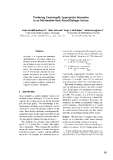 """Báo cáo khoa học: """"Producing Contextually Appropriate Intonation in an Information-State Based Dialogue System"""""""
