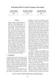 "Báo cáo khoa học: ""Re-Ranking Models For Spoken Language Understanding Marco Dinarelli University of Trento Italy"""