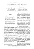 "Báo cáo khoa học: ""Incremental Dialogue Processing in a Micro-Domain"""
