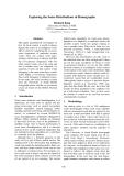 "Báo cáo khoa học: ""Exploring the Sense Distributions of Homographs"""