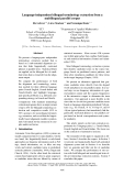 """Báo cáo khoa học: """"Language-independent bilingual terminology extraction from a multilingual parallel corpus"""""""