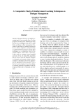 """Báo cáo khoa học: """"A Comparative Study of Reinforcement Learning Techniques on Dialogue Management"""""""