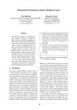 "Báo cáo khoa học: ""Information Presentation in Spoken Dialogue Systems"""