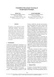 "Báo cáo khoa học: ""Probabilistic Hierarchical Clustering of Morphological Paradigms"""