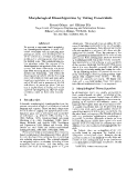 "Báo cáo khoa học: ""Morphological Disambiguation by Voting Constraints"""