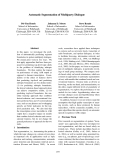 "Báo cáo khoa học: ""Automatic Segmentation of Multiparty Dialogue"""