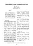 "Báo cáo khoa học: ""Lexical Morphology in Machine Translation: a Feasibility Study"""