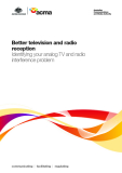 Better television and radio  reception - Identifying your analog TV and radio  interference problem