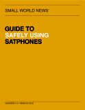 GUIDE TO  SAFELY USING  SATPHONES