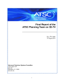 Final Report of the   ATSC Planning Team on 3D-TV