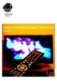 A new framework for local TV in the UK
