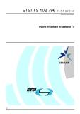 Hybrid Broadcast Broadband TV