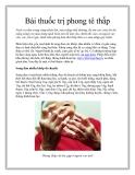 Bài thuốc trị phong tê thấp