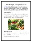 Dinh dưỡng trị bệnh gan nhiễm mỡ