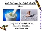 Ảnh hưởng của vi sinh vât đến sữa