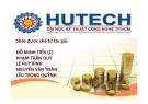 Hệ thống ngân hàng Việt Nam - HUTECH