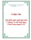 Luận văn: Tìm hiểu ngôn ngữ lập trình C Sharp và viết ứng dụng Chat trong mạng LAN
