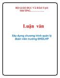 Luận văn: Xây dựng chương trình quản lý đoàn viên trường ĐHDLHP