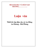 Luận văn:Thiết kế cấp điện cho xã An Đồng An Dương - Hải Phòng