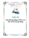 Luận văn: Tìm hiểu hệ thống ATM và cơ chế ATTT cho hệ thống