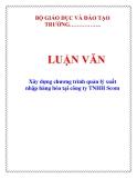 LUẬN VĂN: Xây dựng chương trình quản lý xuất nhập hàng hóa tại công ty TNHH Scom