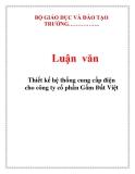 Luận văn: Thiết kế hệ thống cung cấp điện cho công ty cổ phần Gốm Đất Việt
