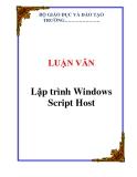 LUẬN VĂN:  Lập trình Windows Script Host