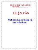 LUẬN VĂN: Website chia sẻ thông tin ảnh viễn thám