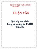 LUẬN VĂN: Quản lý mua bán hàng của công ty TNHH Biển Đỏ