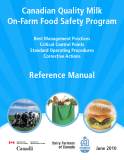 Canadian Quality Milk On-Farm Food Safety Program