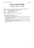 Ôn tập bài tập Kinh tế lượng  - Bài tập số 5: Tương quan chuỗi
