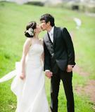 Trang trí đám cưới với vải thô gai