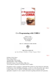 C++ Programming with CORBA