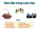 GIAO TIẾP TRONG CUỘC HỌP