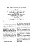 """Báo cáo khoa học: """"JPSG Parser on Constraint Logic Programming"""""""
