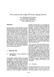 """Báo cáo khoa học: """"User studies and the design of Natural Language Systems"""""""