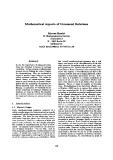 "Báo cáo khoa học: ""Mathematical Aspects of Command Relations"""
