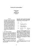 """Báo cáo khoa học: """"Parsing with polymorphism"""""""