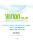 OPEN INNOVATION AND NANOTECHNOLOGY - AN OPPORTUNITY FOR TRADITIONAL INDUSTRIES