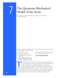 The Quantum-Mechanical  Model of the Atom
