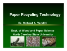 Paper Recycling Technology Dr. Richard A. Venditti